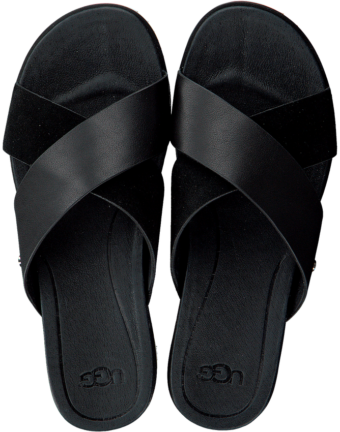 Zwarte UGG Slippers W KARI SLIDE - larger