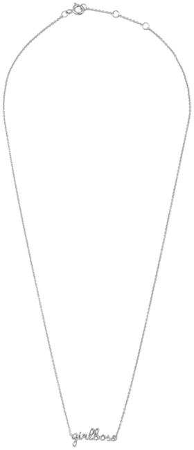 Zilveren ALLTHELUCKINTHEWORLD Ketting URBAN NECKLACE GIRLBOSS - large