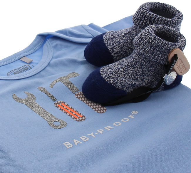 Blauwe SHOESME Babyschoenen ROMPER  - large