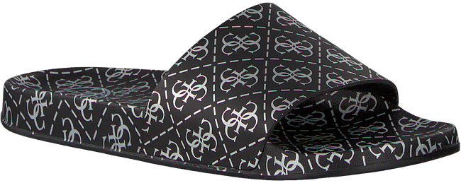 Zwarte GUESS Slippers I-SAVAN-EU  - large