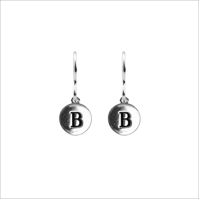 Zilveren ALLTHELUCKINTHEWORLD Oorbellen CHARACTER EARRINGS LETTER - large