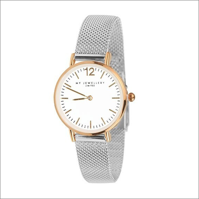 Zilveren MY JEWELLERY Horloge SMALL BICOLOR WATCH - large