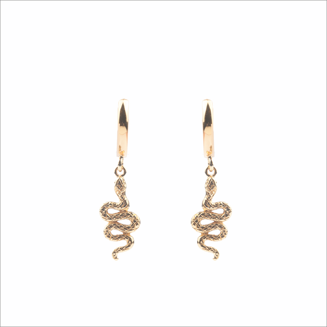 Gouden ATLITW STUDIO Oorbellen SOUVENIR EARRINGS SNAKE - large