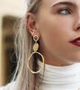 Gouden MY JEWELLERY Oorbellen VINTAGE STATEMENT EARRINGS - small