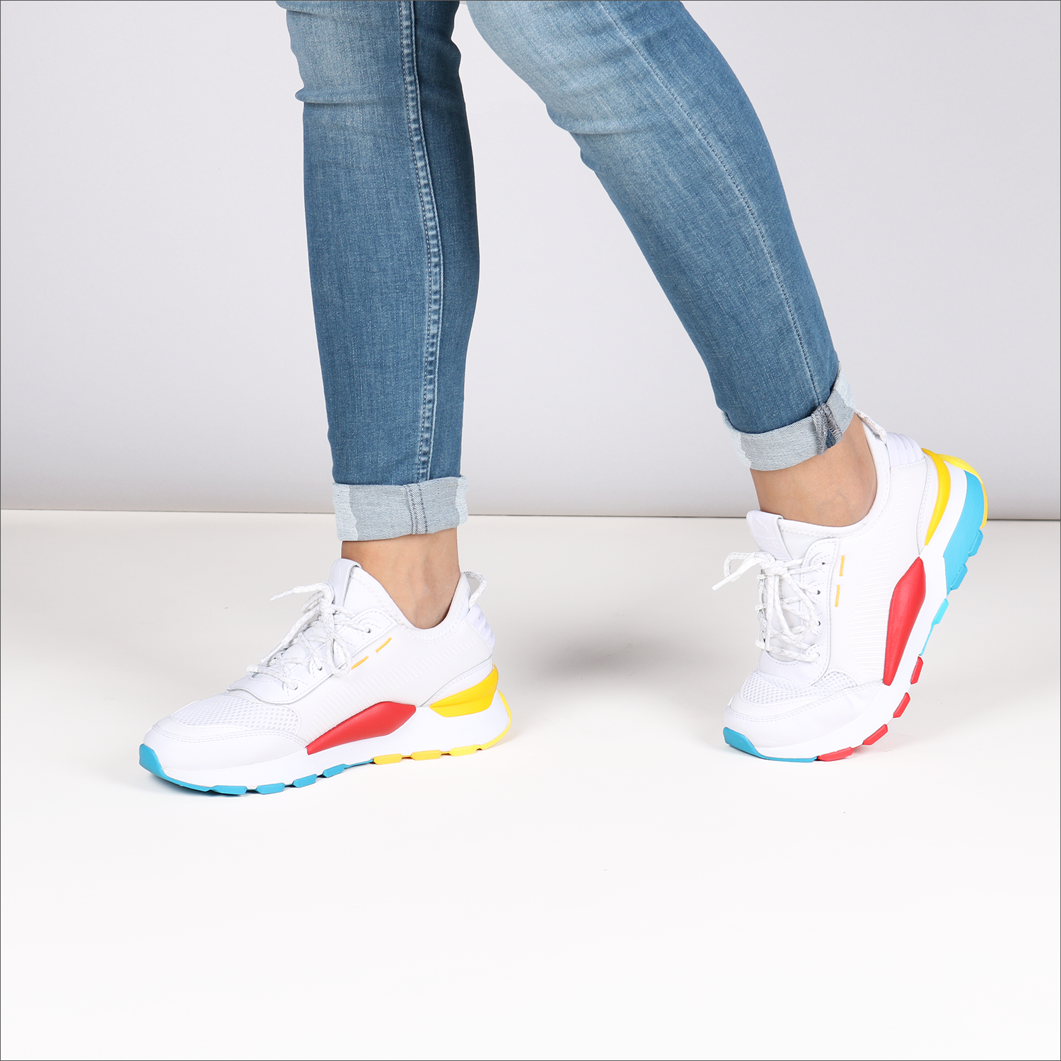 92bfba83792 Witte PUMA Sneakers RS-0 PLAY DAMES - Omoda.nl