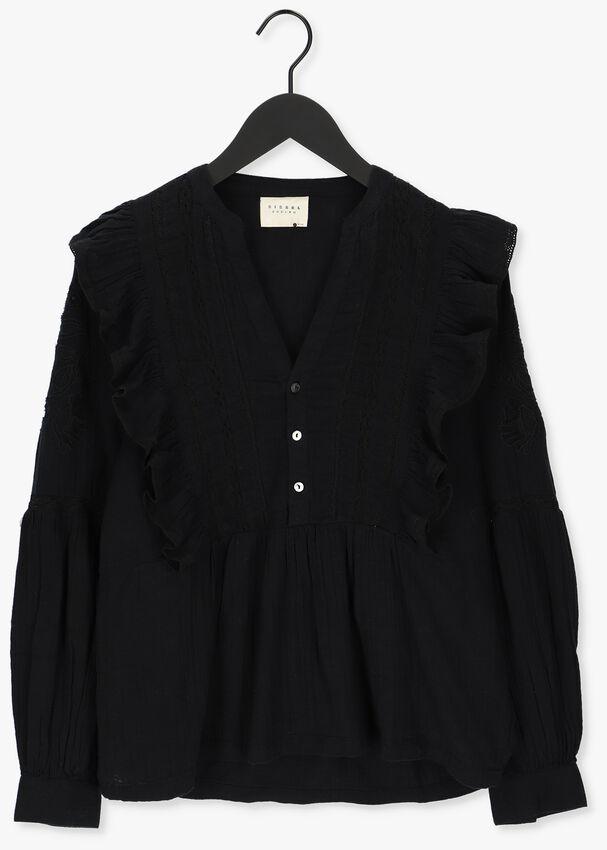 Zwarte SISSEL EDELBO Blouse ANNIE ORGANIC COTTON SHIRT  - larger