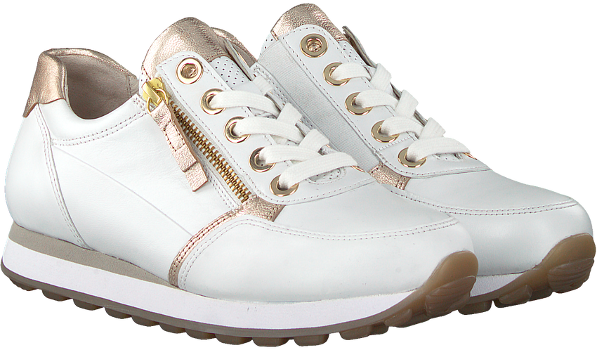 Witte GABOR Lage sneakers 035  - larger