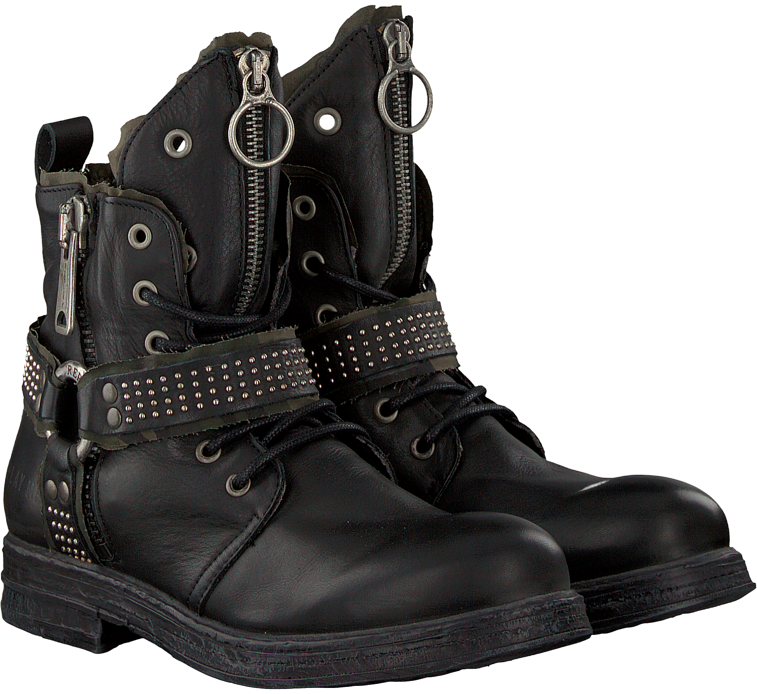 Zwarte REPLAY Biker boots RL260060L FAIRVIEW | Omoda