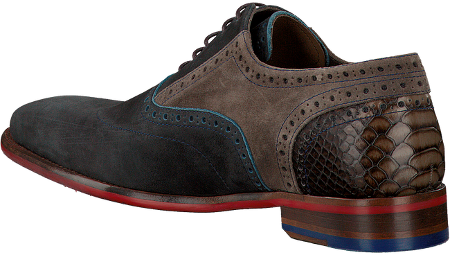 Blauwe FLORIS VAN BOMMEL Nette schoenen 19102  - large