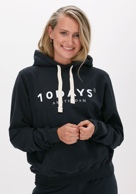 Donkerblauwe 10 DAYS Sweater THE HOODIE - large