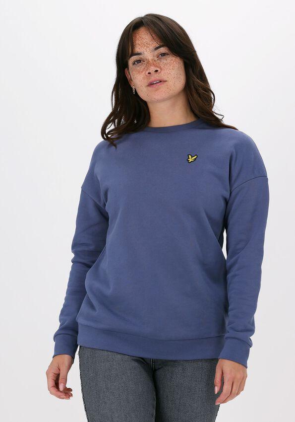Blauwe LYLE & SCOTT Sweater OVERSIZED SWEATSHIRT  - larger