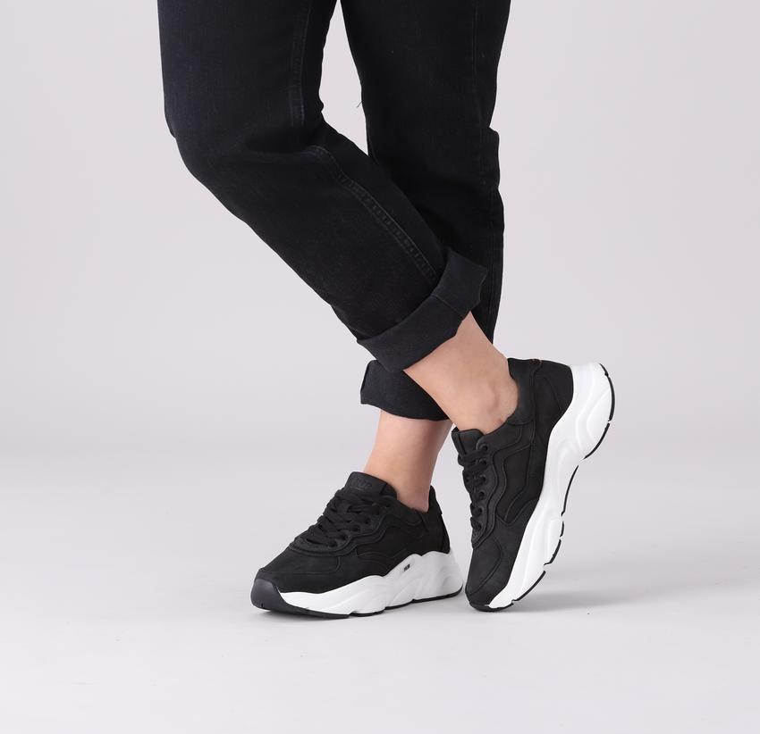 Zwarte HUB Lage sneakers ROCK-W  - larger