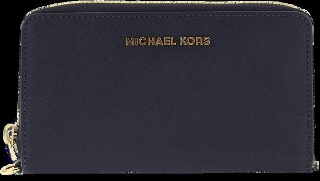 Blauwe MICHAEL KORS Portemonnee LG FLAT MF PHONE CASE - large