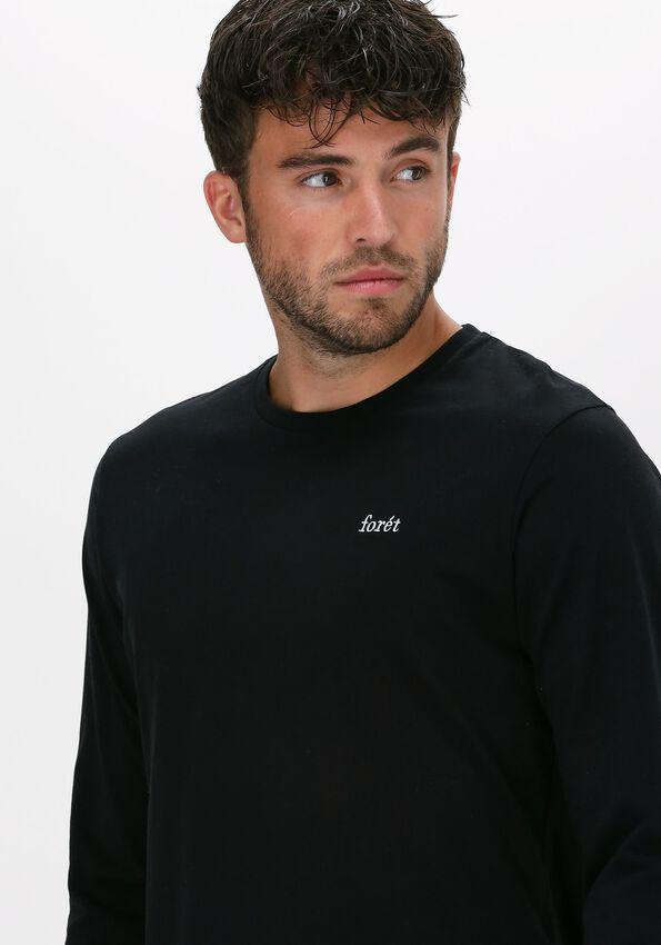 Zwarte FORÉT T-shirt WIND LONGSLEEVE - larger