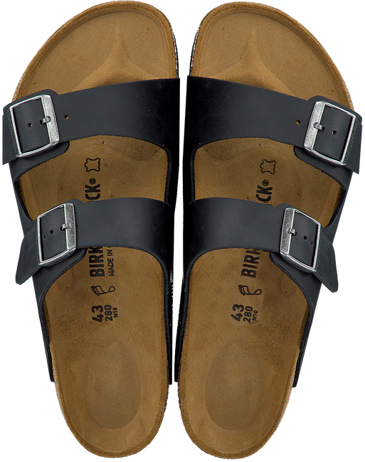 Zwarte BIRKENSTOCK PAPILLIO Slippers ARIZONA HEREN  - large