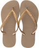 Gouden HAVAIANAS Slippers SLIM GLITTER  - small