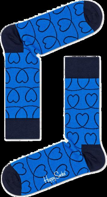 Blauwe HAPPY SOCKS Sokken LOVE LINE - large