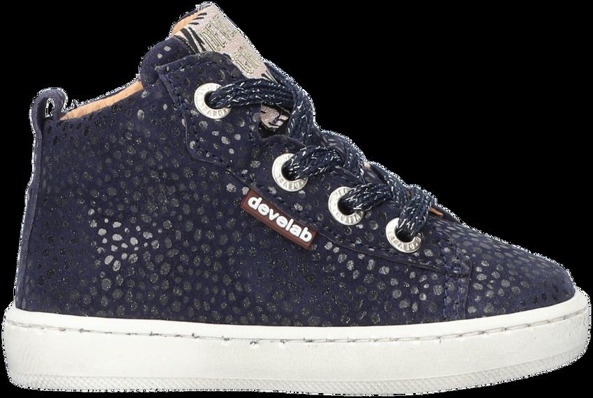 Blauwe DEVELAB Hoge sneaker 41602  - larger