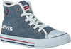 Blauwe LEVI'S Sneakers DUKE MG MID CHAMBRAY KIDS  - small