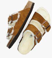 Bruine BIRKENSTOCK Pantoffels ARIZONA FELL  - medium