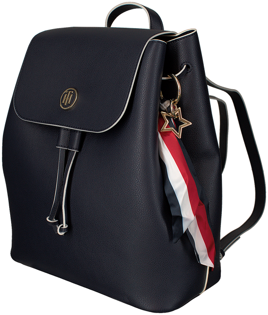 Blauwe TOMMY HILFIGER Rugtas CHARMING TOMMY BACKPACK - large