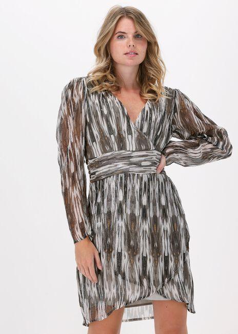 Grijze SOFIE SCHNOOR Mini jurk NAKITA  - large