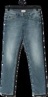Lichtblauwe CAST IRON Slim fit jeans RISER SLIM GREEN TINT VINTAGE