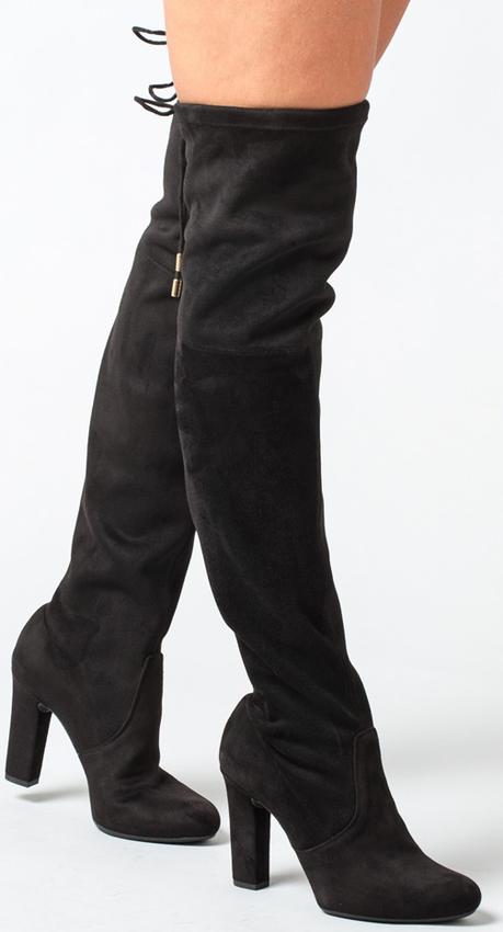 Zwarte UNISA Overknee laarzen PALMA  - larger
