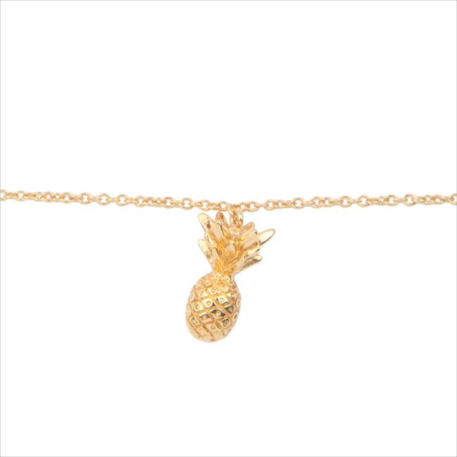 Gouden ALLTHELUCKINTHEWORLD Armband SOUVENIR BRACELET PINEAPPLE - large