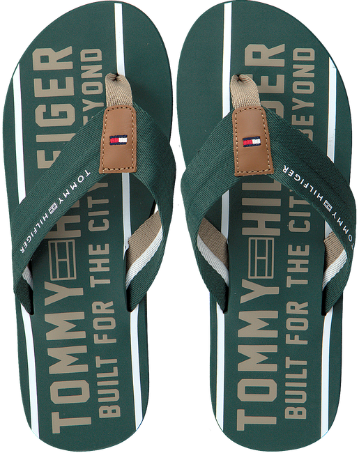 Groene TOMMY HILFIGER Slippers SMART TH BEACH SANDAL - large