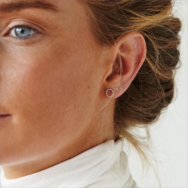 Zilveren ALLTHELUCKINTHEWORLD Oorbellen PETITE EARRINGS CIRCLE - large