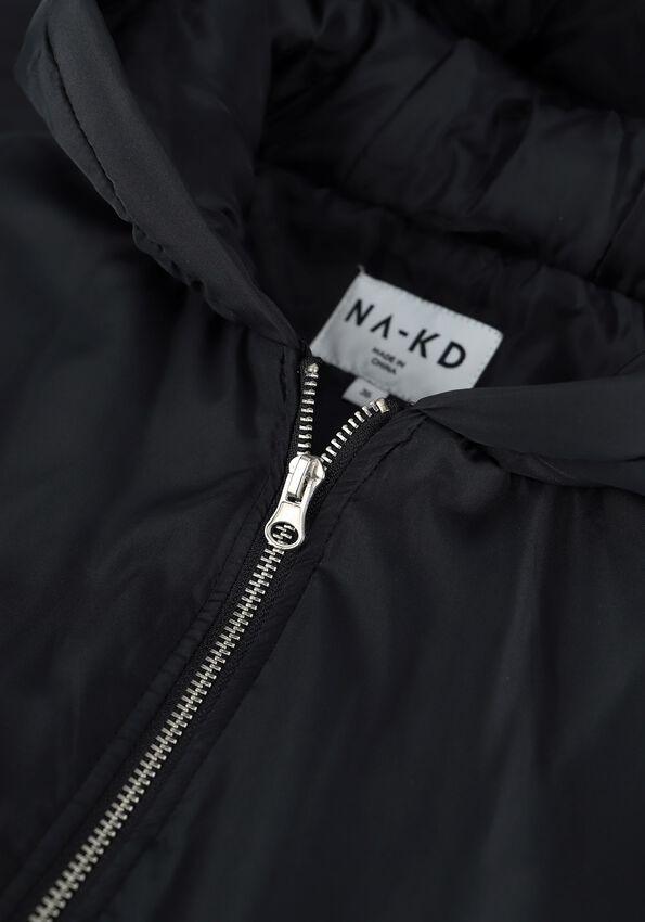 Zwarte NA-KD Bodywarmer OVERSIZED HOODED VEST - larger