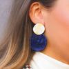 Blauwe MY JEWELLERY Oorbellen SHELL EARRING  - small