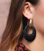 Zwarte MY JEWELLERY Oorbellen TEARDROP EARRINGS  - small
