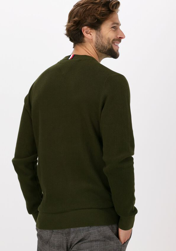 Olijf TOMMY HILFIGER Trui BASIC STRUCTURE CREW NECK - larger