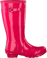 Roze HUNTER Regenlaarzen ORIGINAL KIDS GLOSS - medium