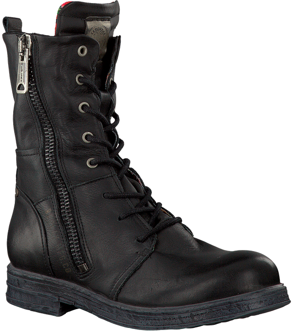 Zwarte REPLAY Veterboots EVY  - large