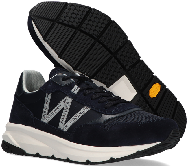 Blauwe WOOLRICH Lage sneaker TRAIL RUNNER MAN CAMOSCIO - large