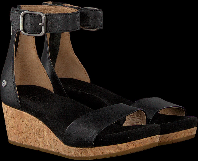 Zwarte UGG Sandalen ZOE II Uggs, Lange laarzen en Sandalen