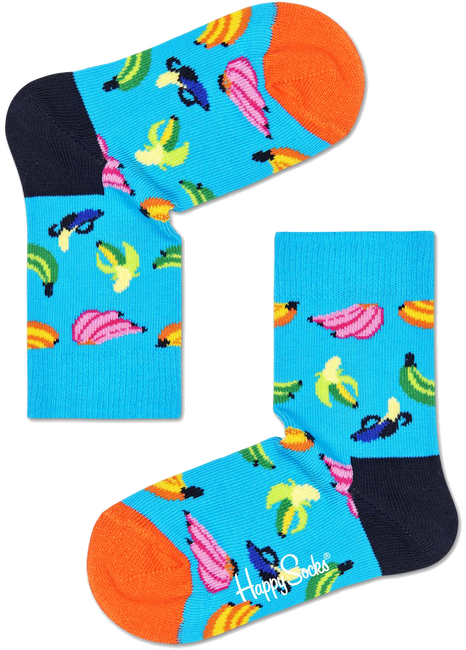 Blauwe HAPPY SOCKS Sokken KIDS BANANA  - large