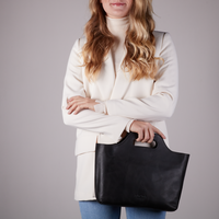 Zwarte MYOMY Handtas MY CARRY BAG HANDBAG - medium