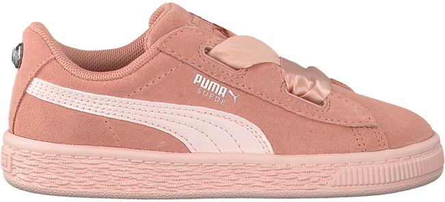Roze PUMA Sneakers SUEDE HEART JEWEL INF  - large