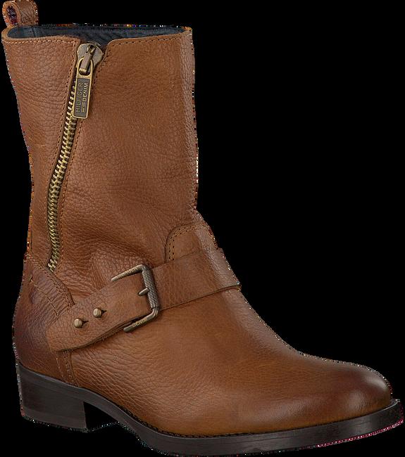Cognac TOMMY HILFIGER Biker boots A1385VIVE 23A  - large