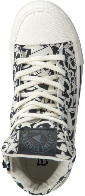Witte BRAQEEZ Sneakers PRINT BLACK/WHITE  - large