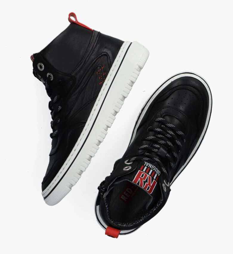 Zwarte RED-RAG Hoge sneaker 13515  - larger