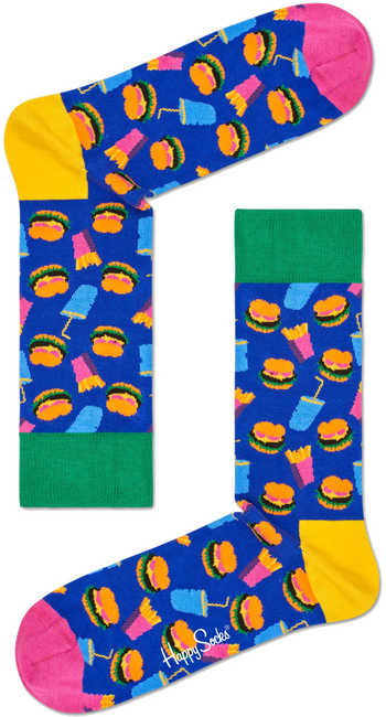 HAPPY SOCKS Sokken HAMBURGER - large