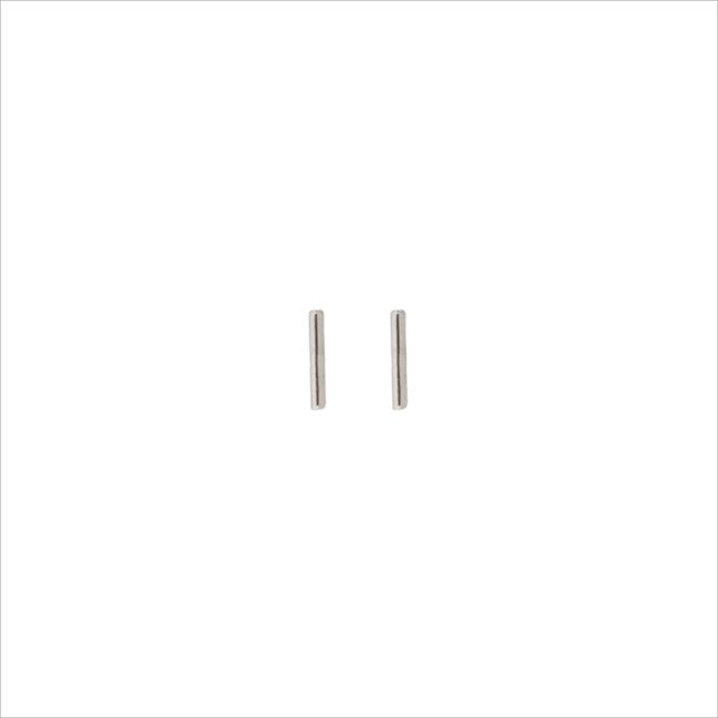 Zilveren ATLITW STUDIO Oorbellen PETITE EARRINGS MINI STRIP - large