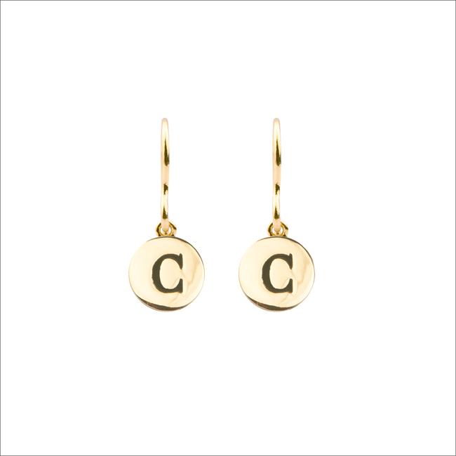 Gouden ATLITW STUDIO Oorbellen CHARACTER EARRINGS LETTER GOLD - large