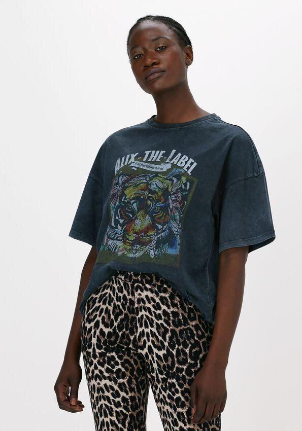 Zwarte ALIX THE LABEL T-shirt OVERSIZED TIGER TSHIRT - larger