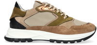 Taupe RED-RAG Lage sneakers 76858  - medium